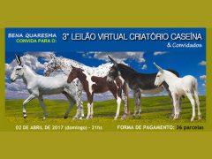 3º Leilão Virtual Criatório Caseína e Convidados