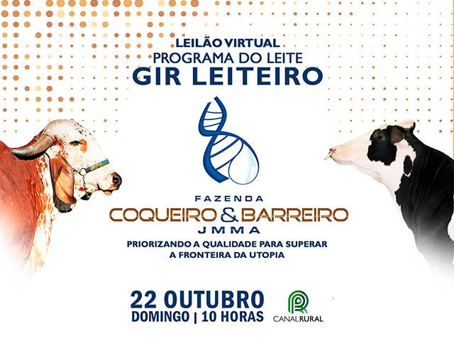 Leilão Virtual Programa do Leite Gir Coqueiro & Barreiro