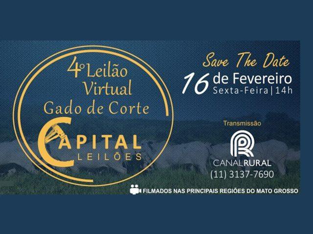 4º Leilão Virtual Gado de Corte Capital Leilões