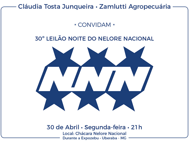 30º Leilão Noite do Nelore Nacional – NNN