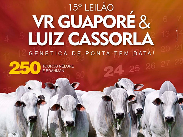 15º Leilão VR Guaporé & Luiz Cassorla