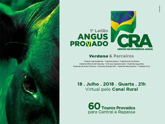 Leilão Virtual Angus Provado CRA – Verdana & Parceiros