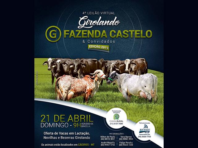 4º Leilão Virtual Girolando & Gir Leiteiro Fazenda Castelo