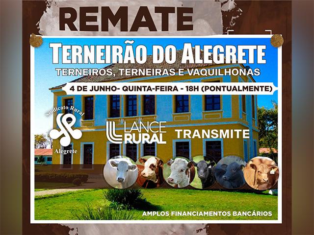 Terneirão do Alegrete será transmitido pelo Lance Rural